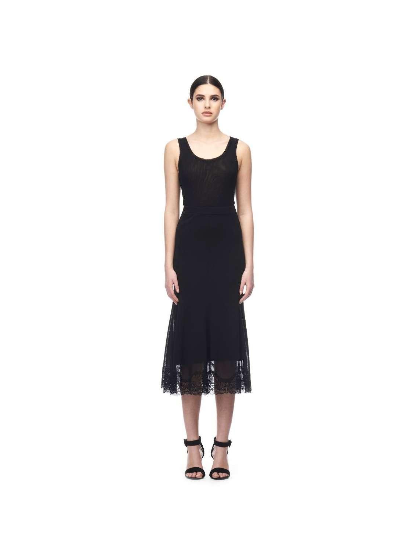 Midi lenght tulle skirt