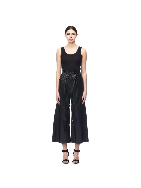 Eco leather culottes pants