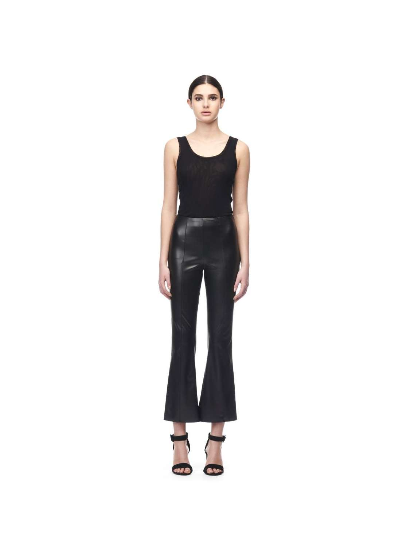 Eco leather crop pants