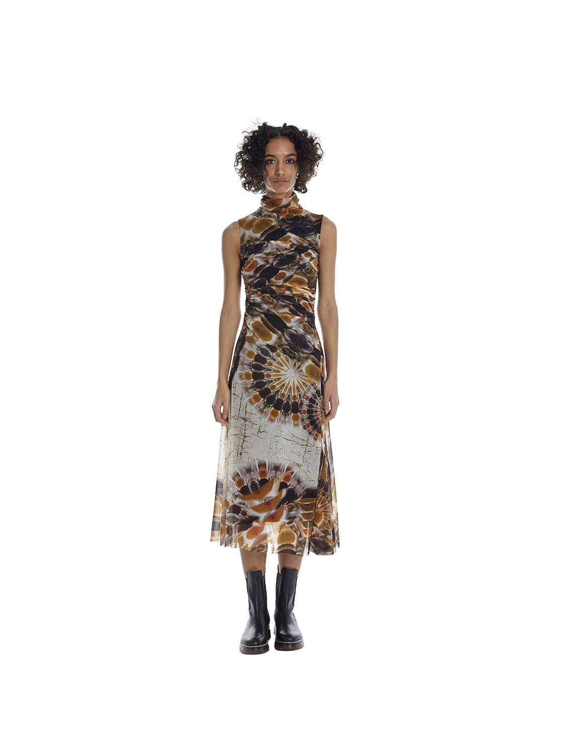 Midi lenght printed tulle...