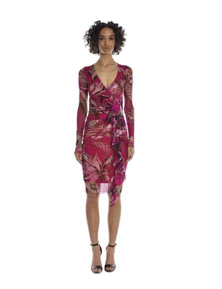 Drapered close fitting dress