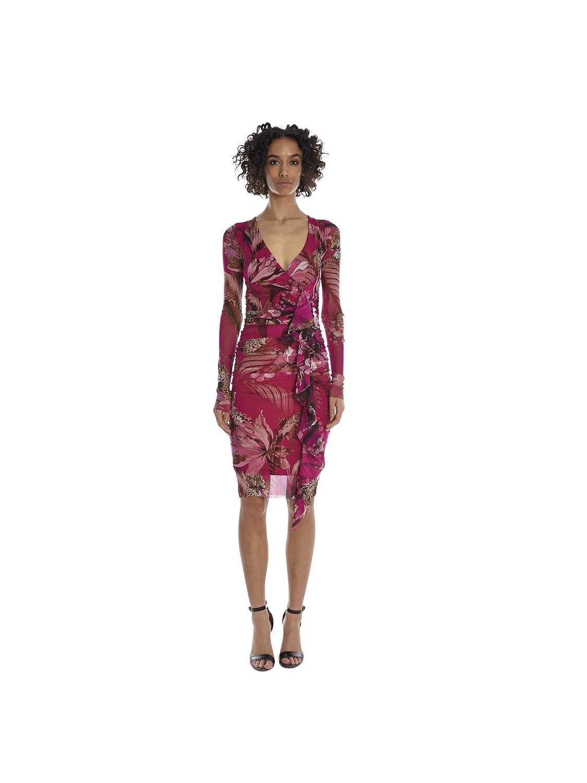 Monochromatic printed dress