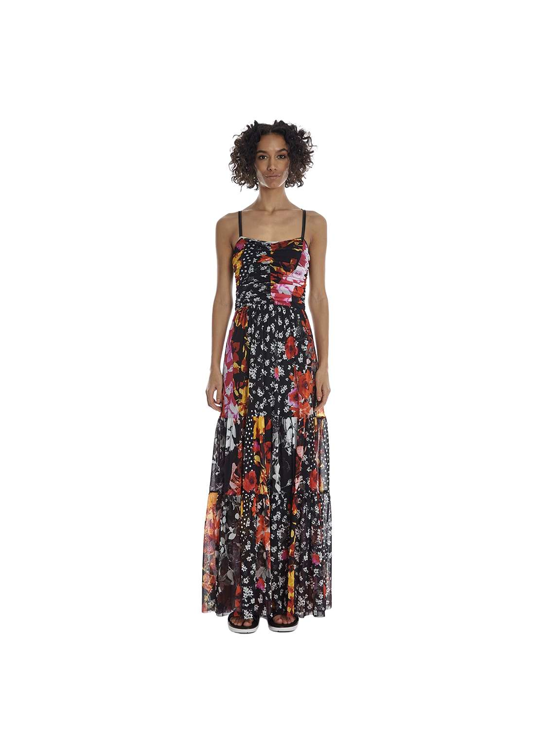 Long bustier-style printed...
