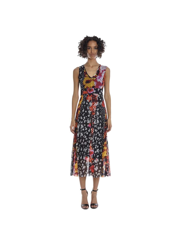 Midi printed tulle dress