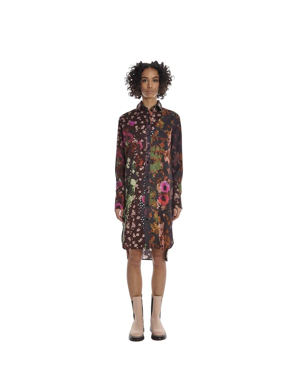 Short printed cotton dress
