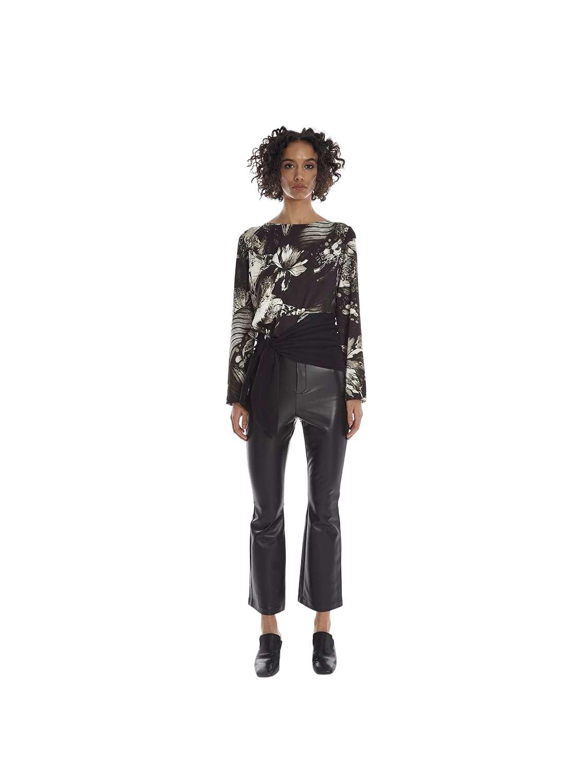 Eco leather  slim crop pants