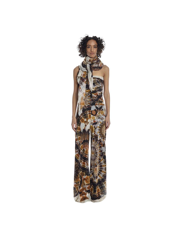 Printed tulle sarong