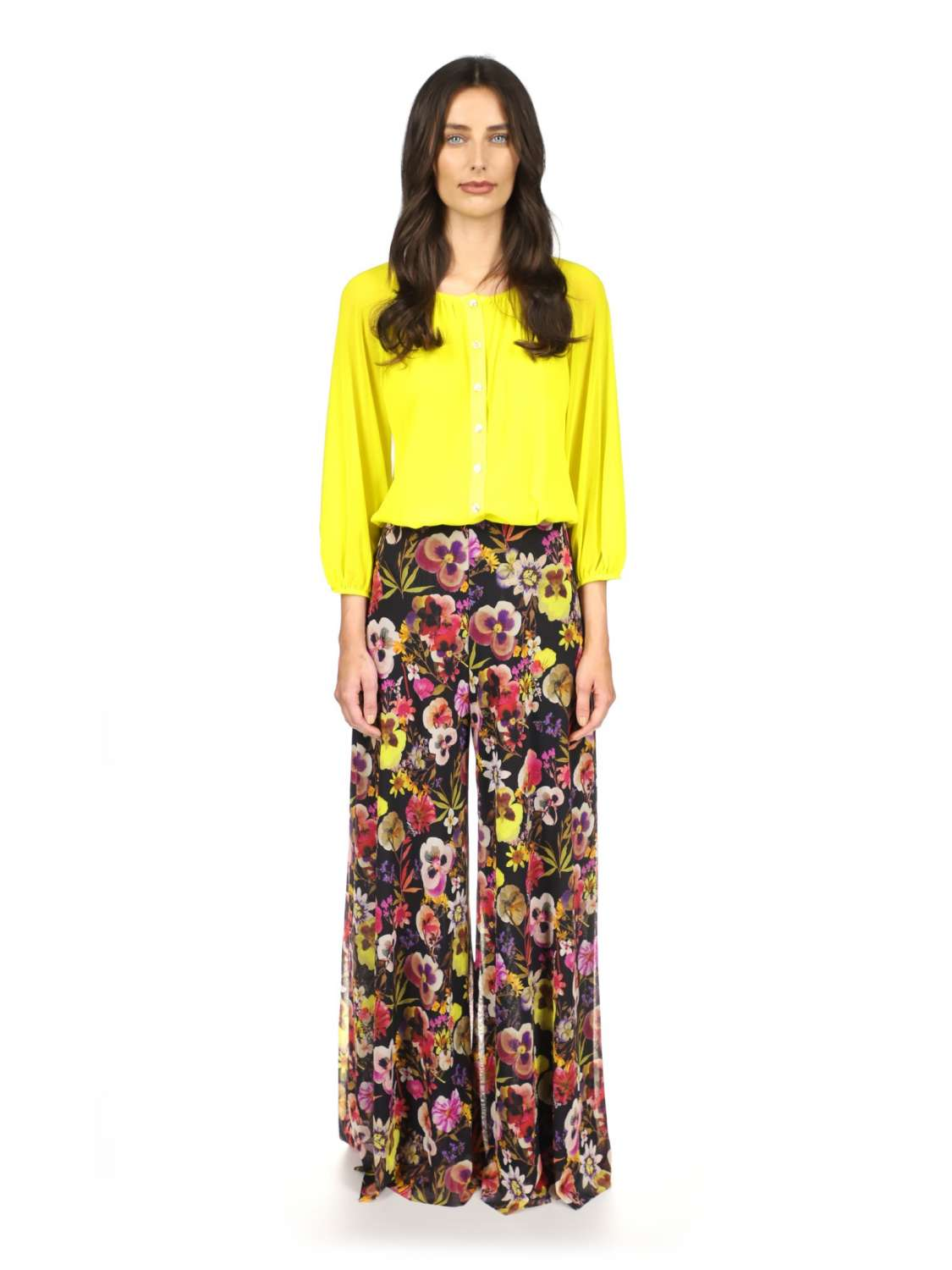 Printed tulle pants
